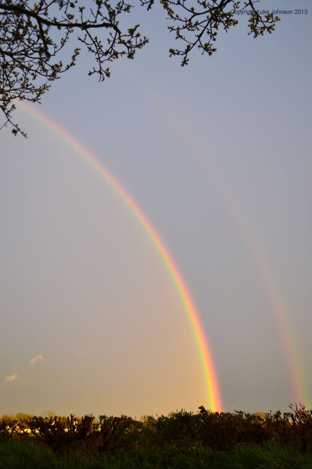 next time you see a rainbow, look for the inverted colours and Alexanders Band
